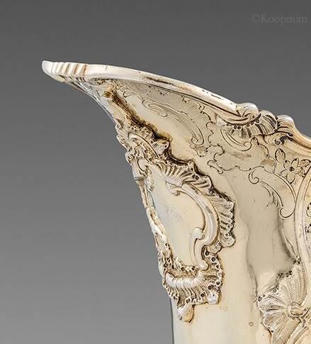 A George III Rococo Helmet-Shaped Ewer
