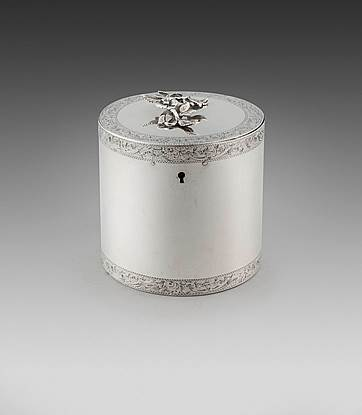 A George III Round Tea Caddy