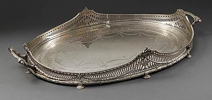 A George V silver Gallery Tray