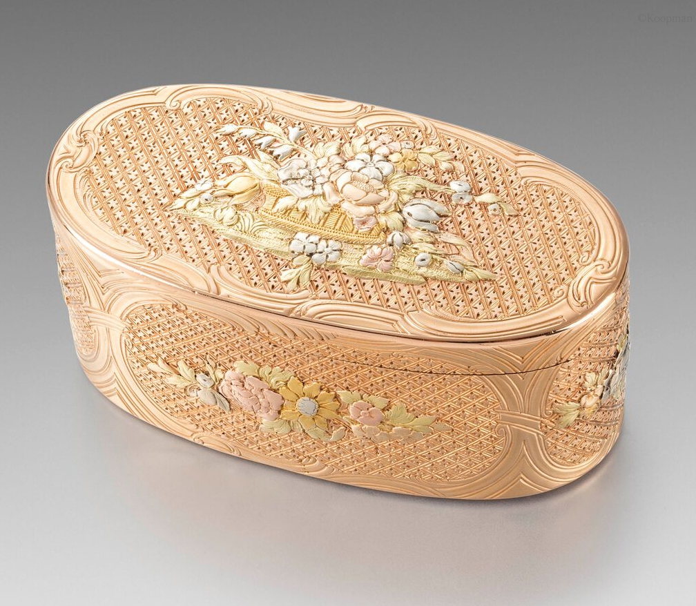 A German 18th Century Gold Box