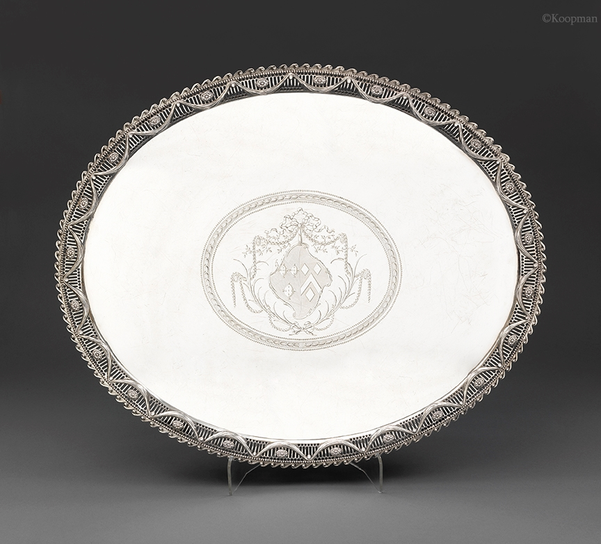 A Large Pierced Border Salver