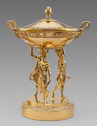 A Large French Silver-Gilt Centrepiece