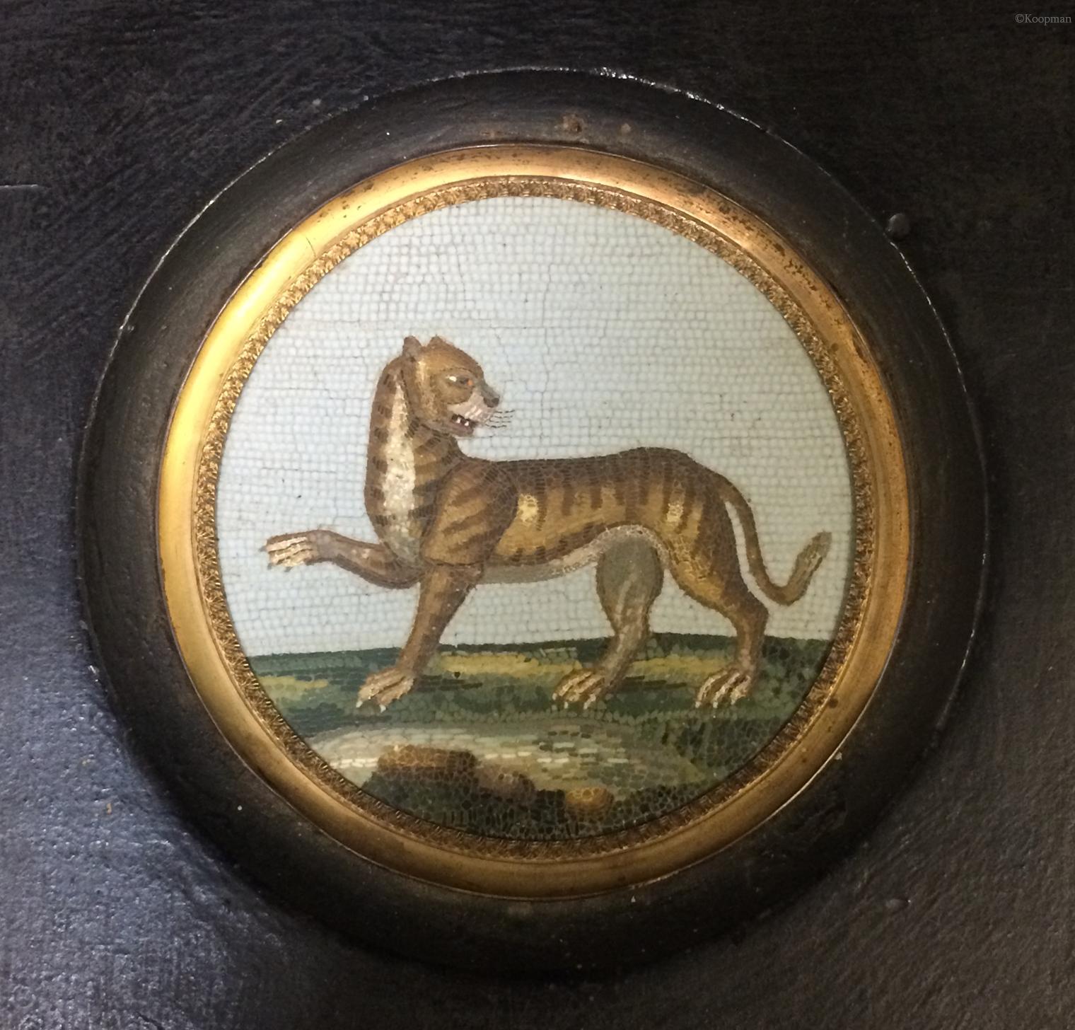 A Micromosaic 'Tiger' Plaque, circa 1790