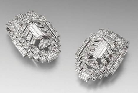 A Pair of Art Deco 1930s Clip Brooches