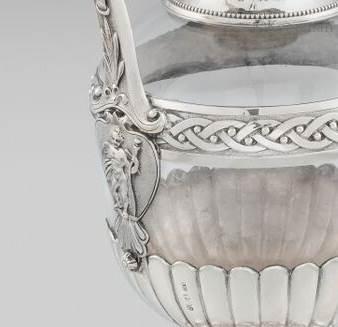 A Rare Form Victorian Claret Jug