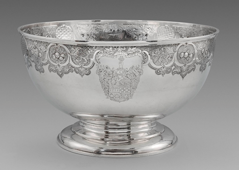 A Rare George II Scottish Provincial Punch Bowl