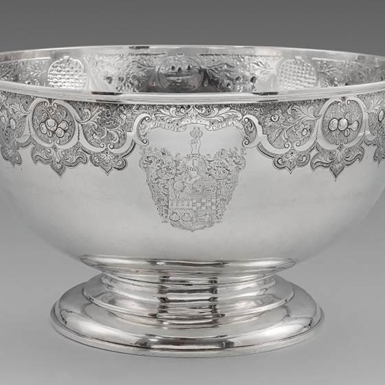 A Rare Scottish Provincial Punch Bowl