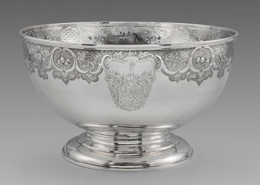 A Rare Scottish Provincial Punch Bowl