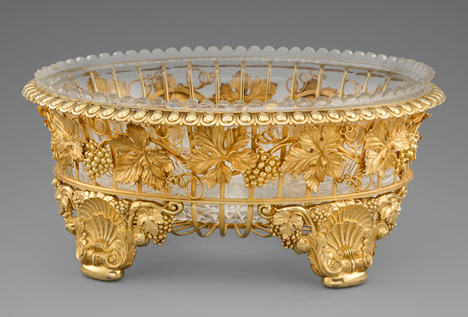 An Elegant Silver-gilt Basket Centrepiece