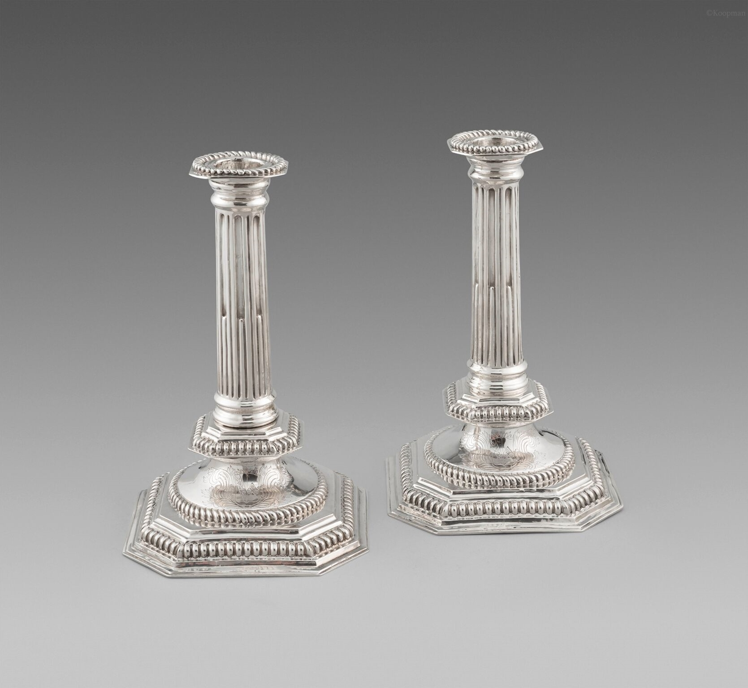 An Exceptional Pair of William & Mary Candlesticks