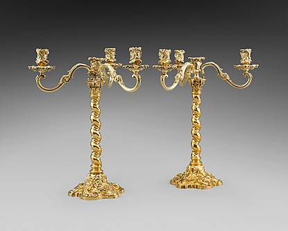 An Unusual Pair of Edwardian Candelabra
