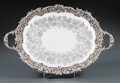 A Fine Victorian Footed Tray