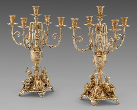 A Fabulous Pair of 19th Century Candelabra