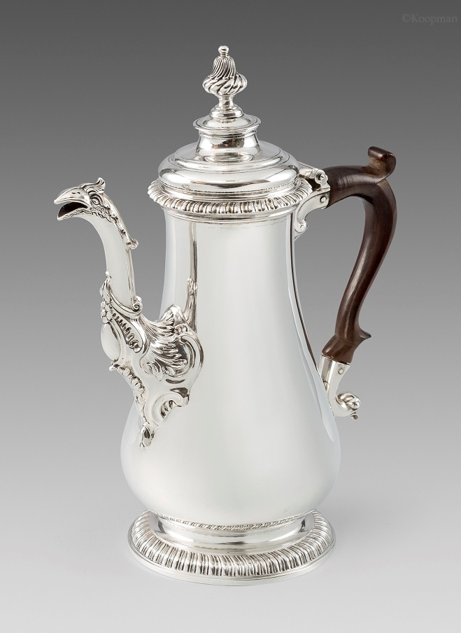 A George II Silver Chocolate Pot