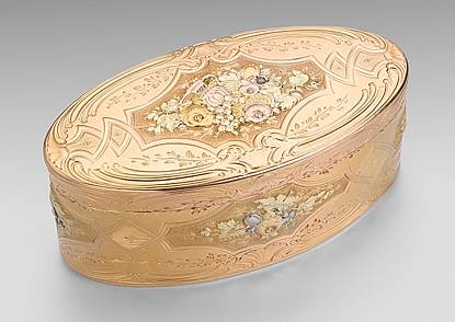 German Vari-Colour Gold Snuff Box