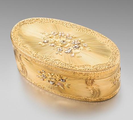 An 18th Century French Three-Colour Gold Box