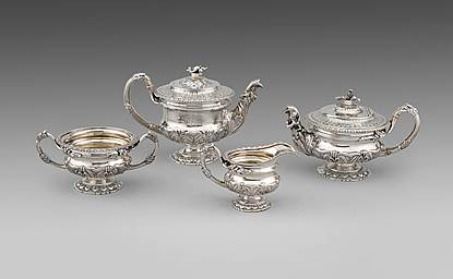 A George IV Four-Piece Tea & Coffee Service