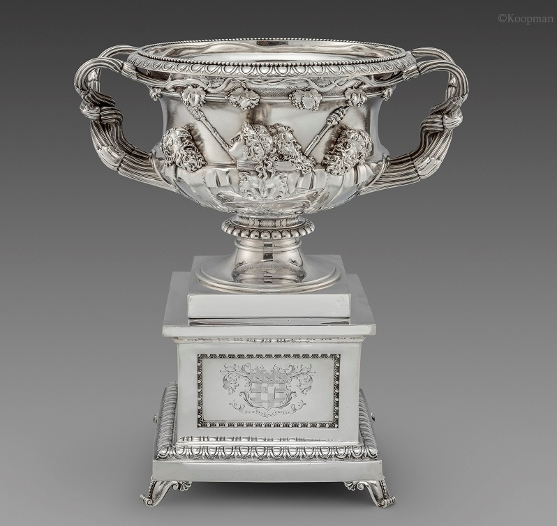 John Bridge A George Iv Warwick Vase On Stand Koopman Rare Art
