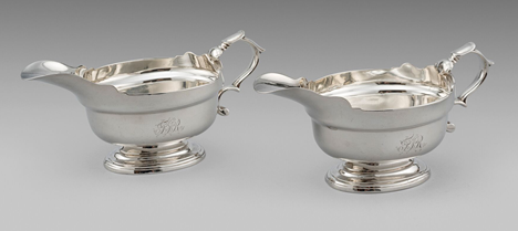 A Pair of George II Sauce Boats