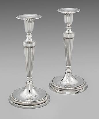 Pair of George III Candlesticks