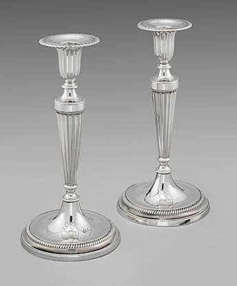 Pair of George III Candlesticks