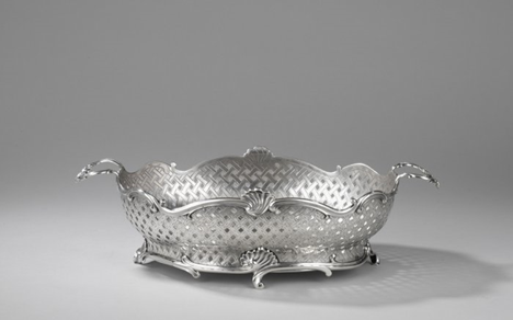 A Dutch Silver Bread Basket