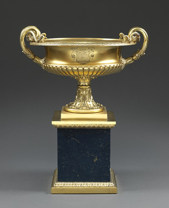 A Paul Storr Silver-Gilt Vase on Plinth