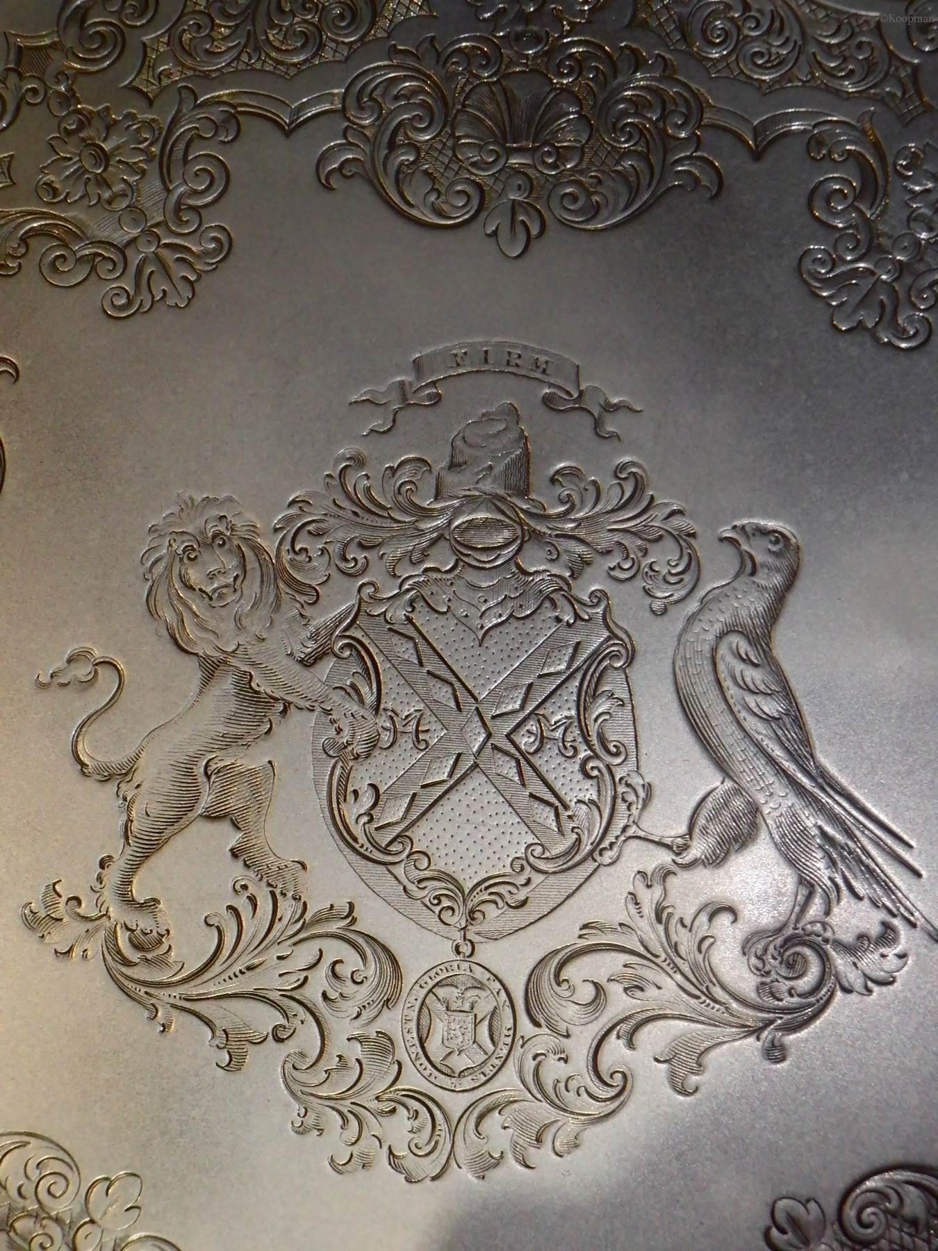 A Victorian Silver Salver