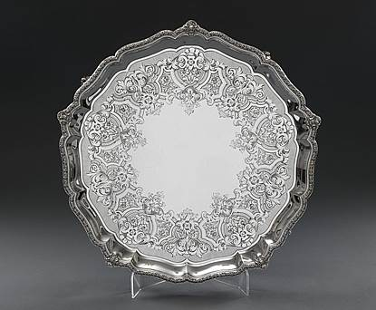 A Richly Engraved Salver