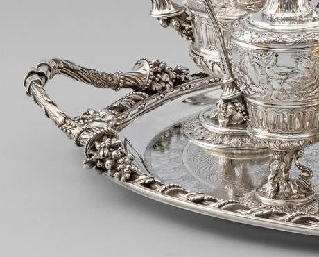 A Magnificent Six-Piece Tea & Coffee Service on Tray