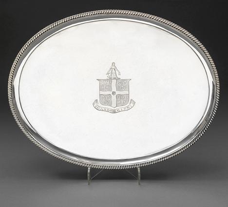 A George III Oval Salver