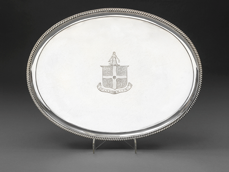 A George III Oval Salver