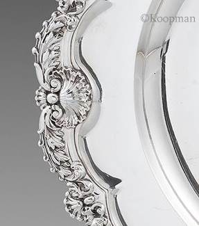 A George III Shell & Anthemion Meat Dish
