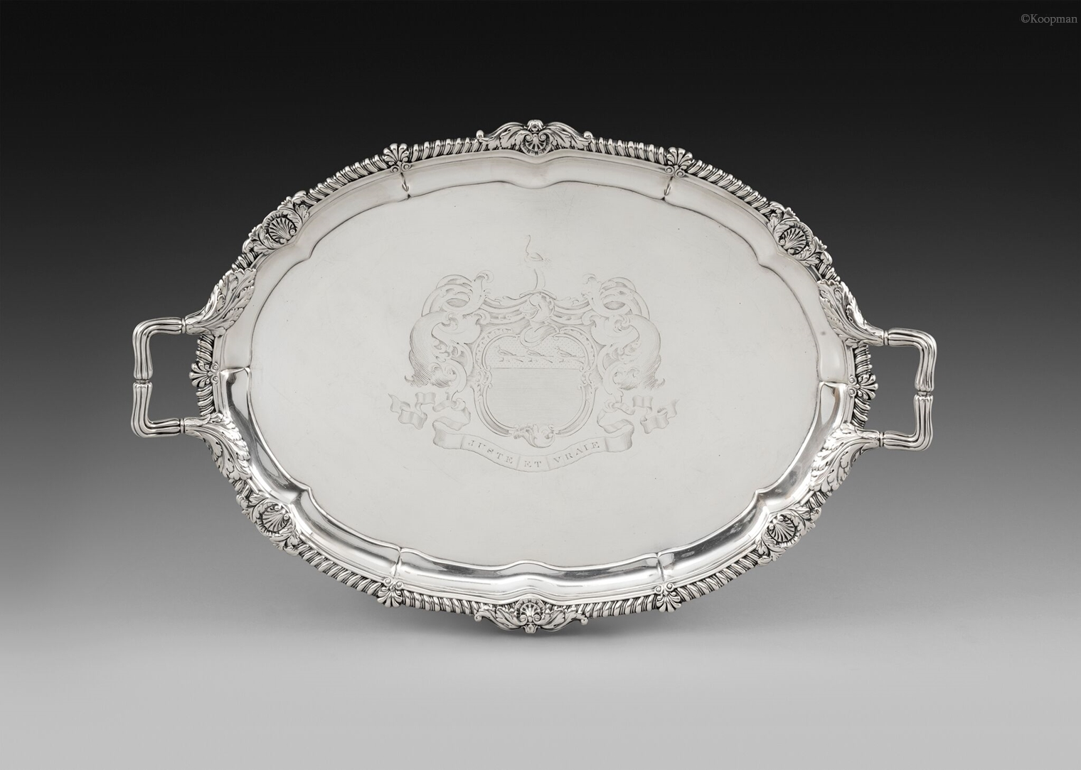 A George III Silver Two-Handled Tray