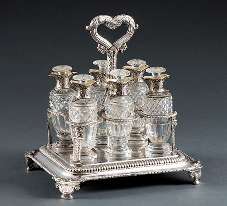 A George III Six-Bottle Cruet