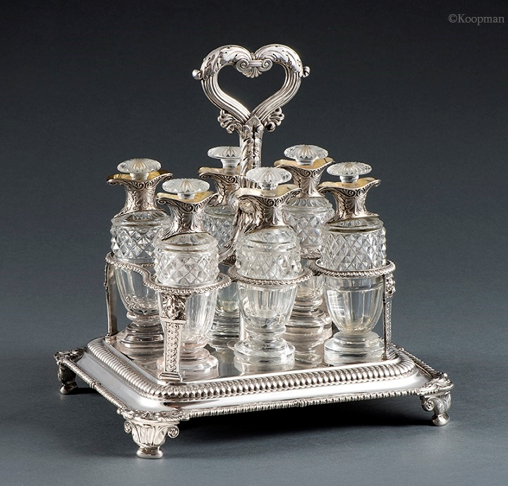 A George III Six-Bottle Cruet