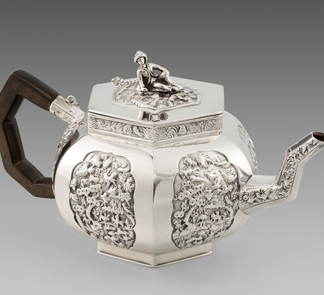 A George IV 'Chinoiserie'  Teapot