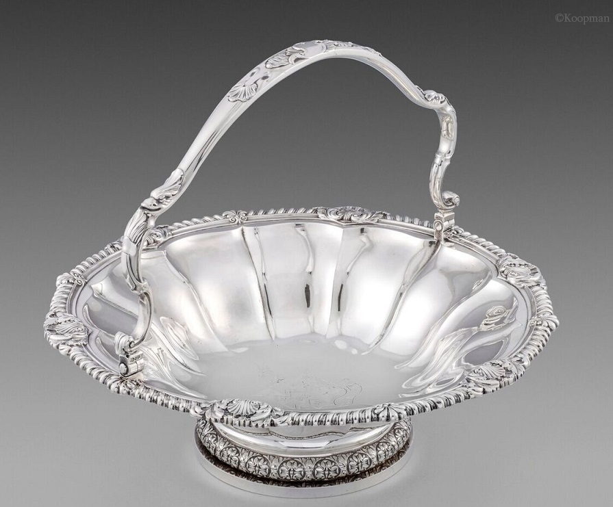 A George IV Silver Basket by Paul Storr, 1827