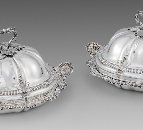 A Pair of George IV Entree Dishes