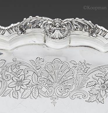 A Superb Two-Handled Tray