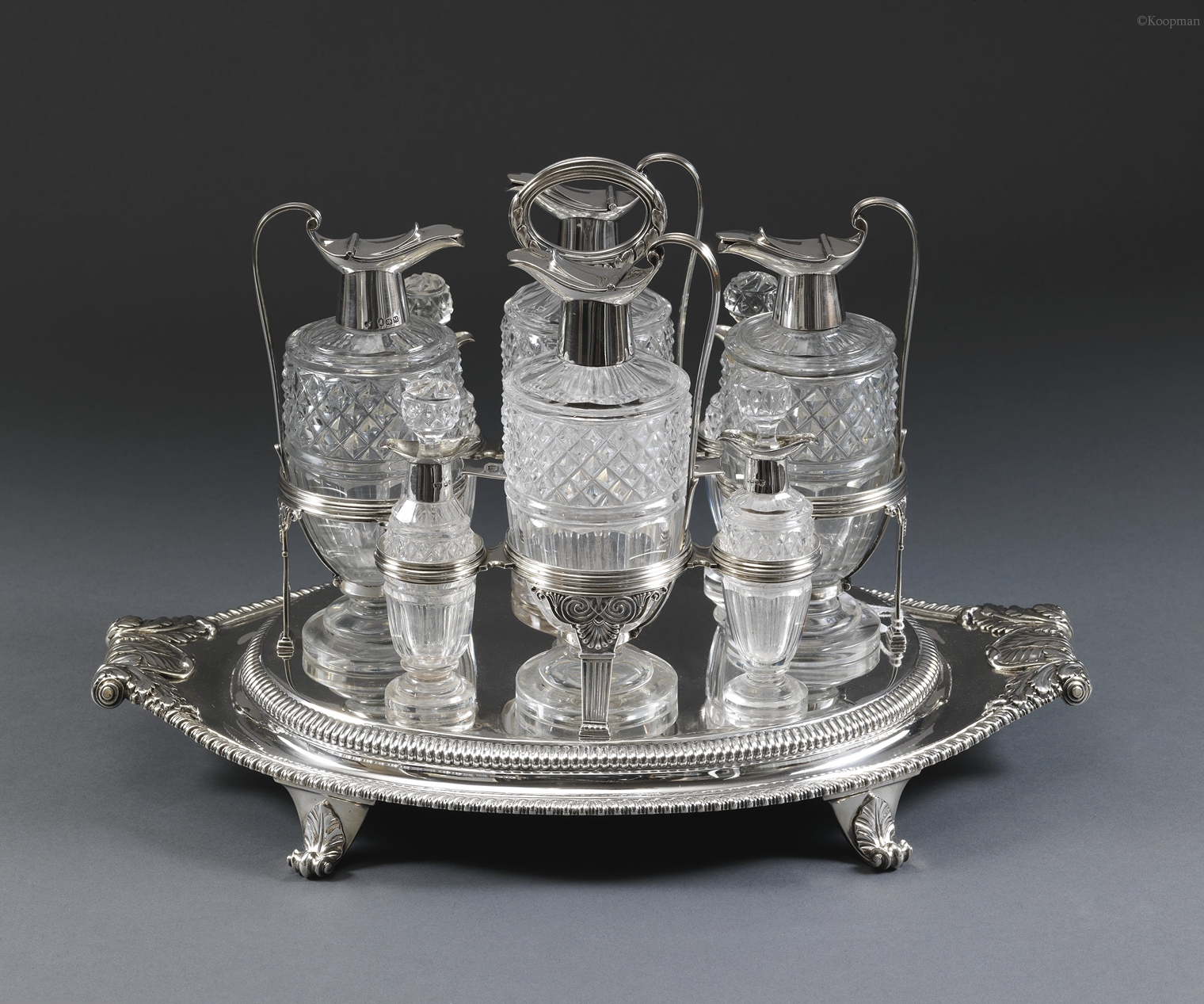 A George III Eight Bottle Cruet