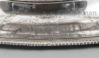 An English Silver Soup Tureen, Cover and Stand of American Interest