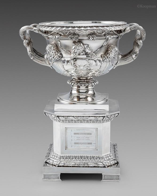 An Impressive Regency Warwick Vase on Silver Stand