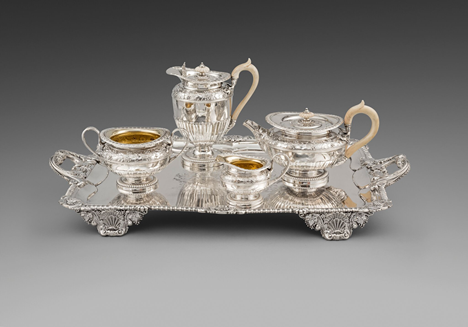 A Magnificent Four-Piece Tea & Coffee Service on Tray