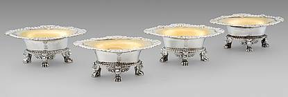 A Set of Four George III Silver Salts