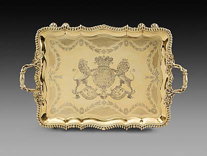 An Important George IV Tray