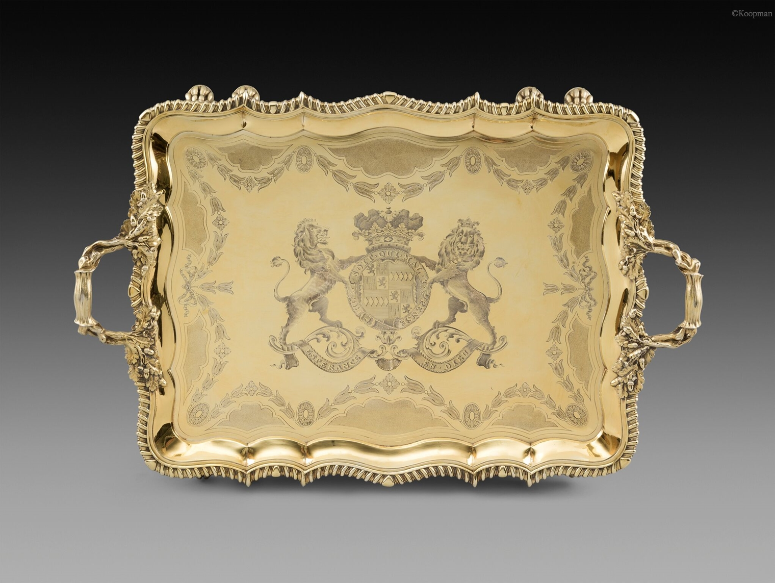 A Historically Important Silver-Gilt Tray