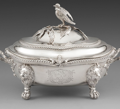 A George IV Soup Tureen with Heraldic Finial