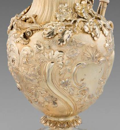 An Oak Leaf Embellished Ewer