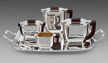 An Elegant Art Deco Tea & Coffee Service on Tray